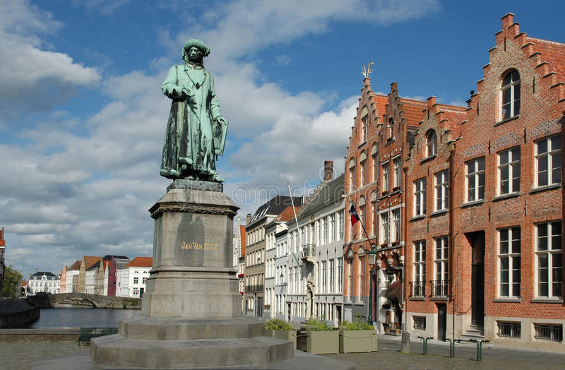 Jan Van Eyck Place royalty free stock image