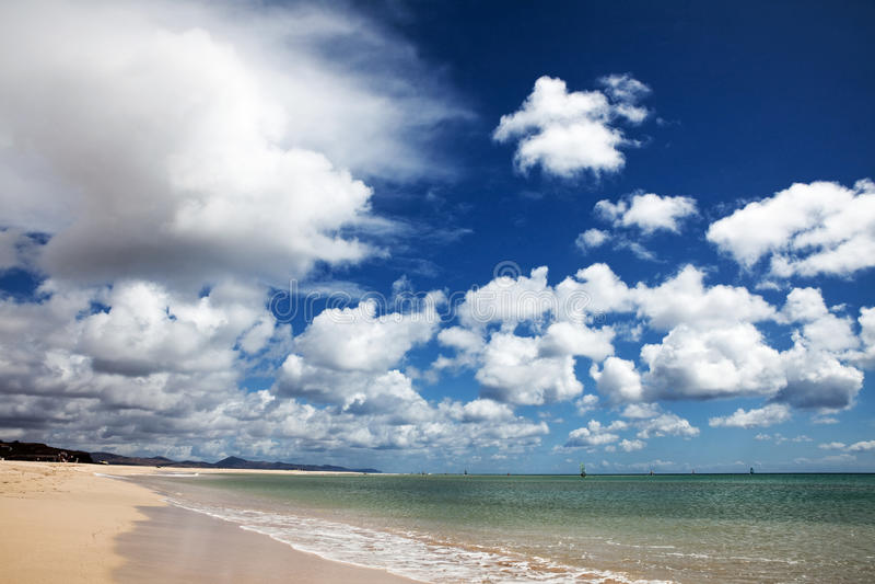 Jandia海滩 免版税库存照片