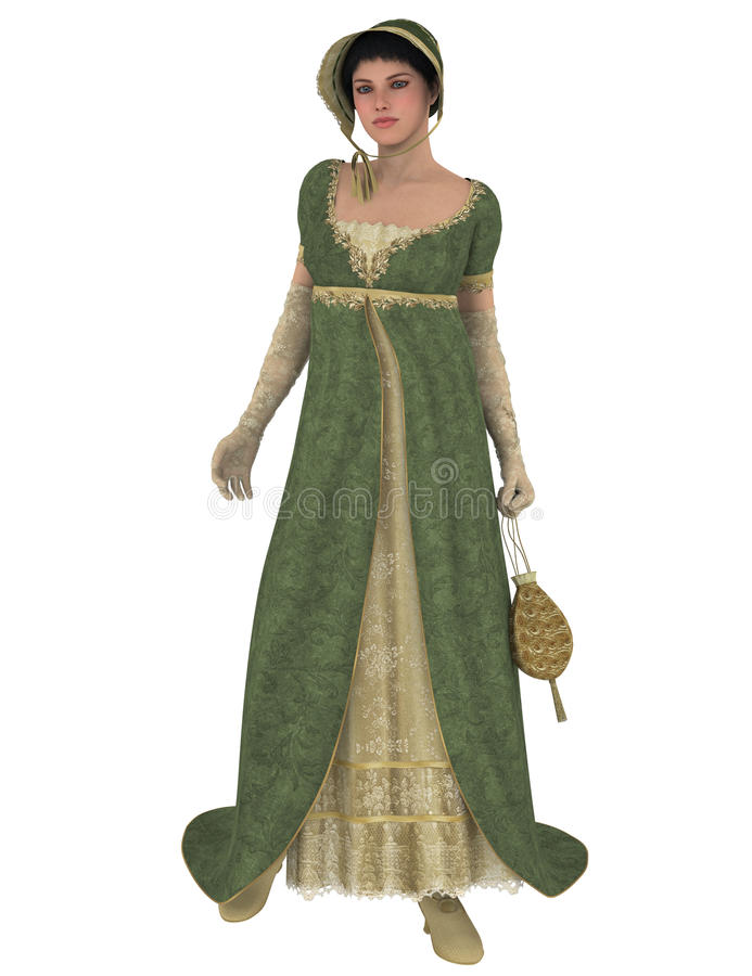 Jane Austen character stock illustration