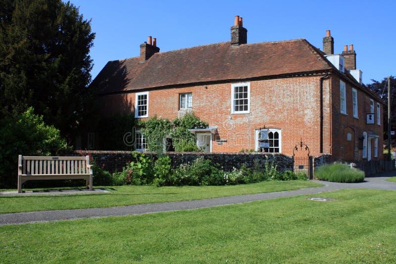 Jane Austen dom w Chawton zdjęcie royalty free