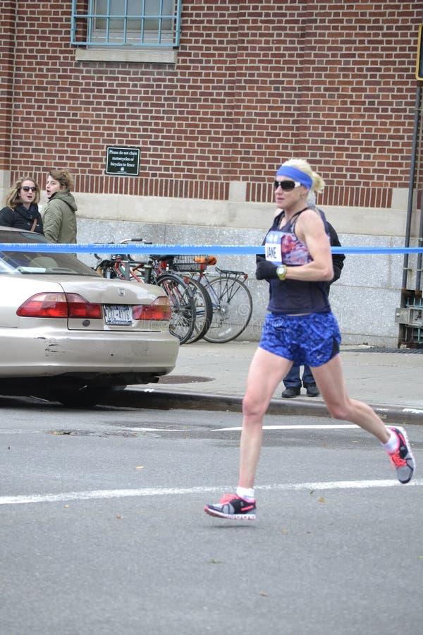 Jane Fardell elita biegacza NYC maraton fotografia royalty free