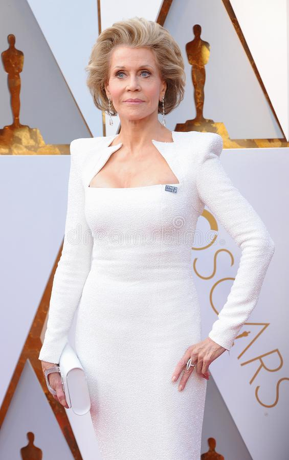Jane Fonda. At the 90th Annual Academy Awards held at the Dolby Theatre in Hollywood, USA on March 4, 2018 royalty free stock images