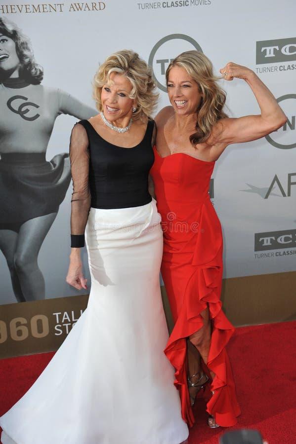 Download Jane Fonda y Denise Austin foto de archivo editorial. Imagen de full - 44857328