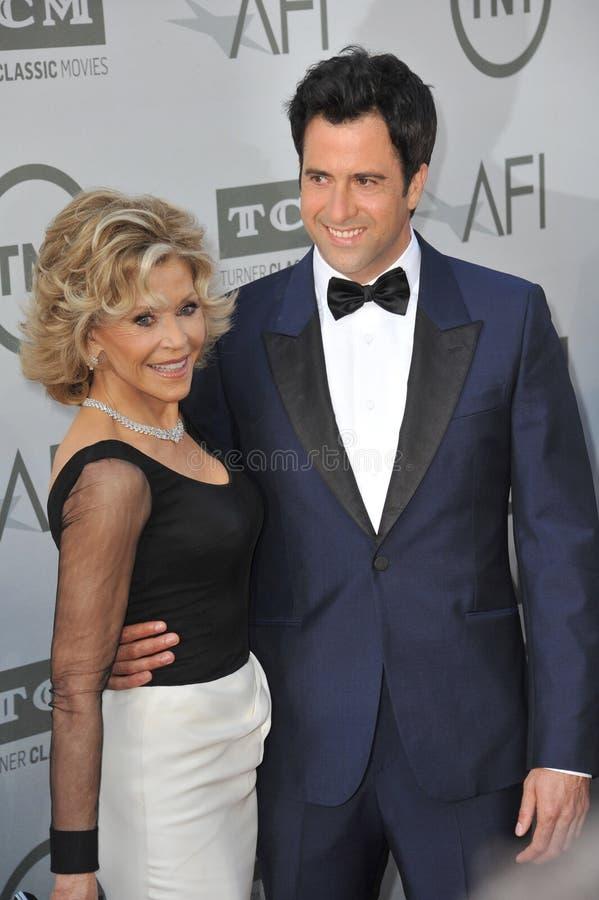Download Jane Fonda y Troy Garity fotografía editorial. Imagen de madre - 44857602