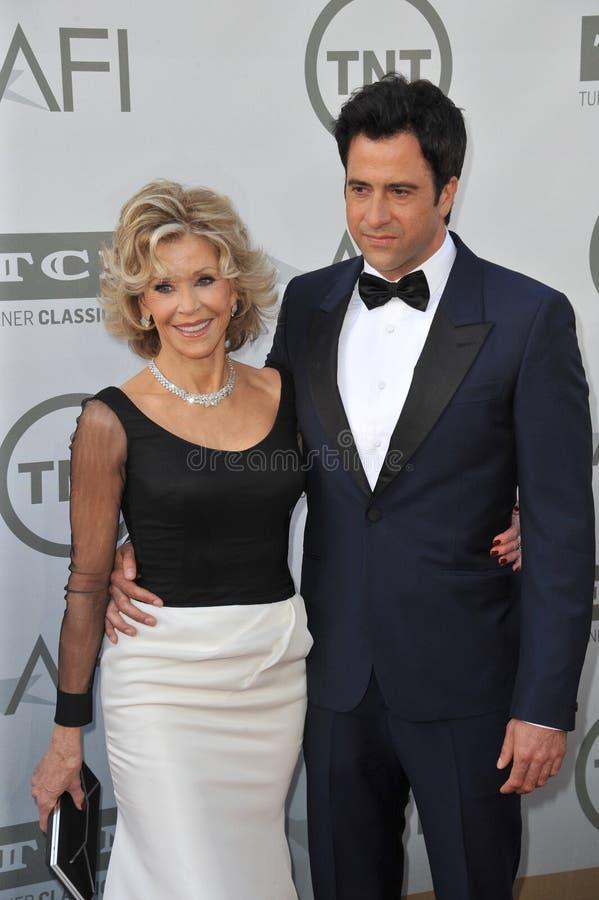 Download Jane Fonda y Troy Garity foto de archivo editorial. Imagen de junio - 44857603