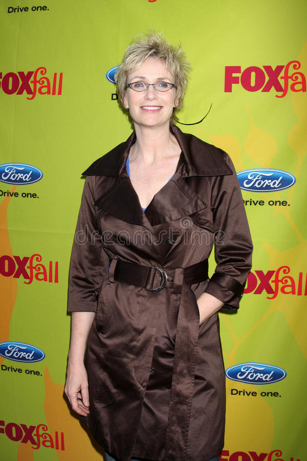 Jane Lynch. Arriving at the FOX-Fall Eco-Casino Party at BOA Steakhouse in West Los Angeles, CA on September 14, 2009 royalty free stock images