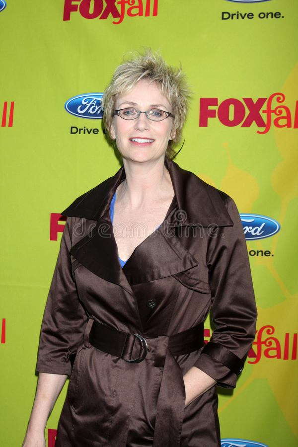 Jane Lynch. Arriving at the FOX-Fall Eco-Casino Party at BOA Steakhouse in West Los Angeles, CA on September 14, 2009 royalty free stock photo