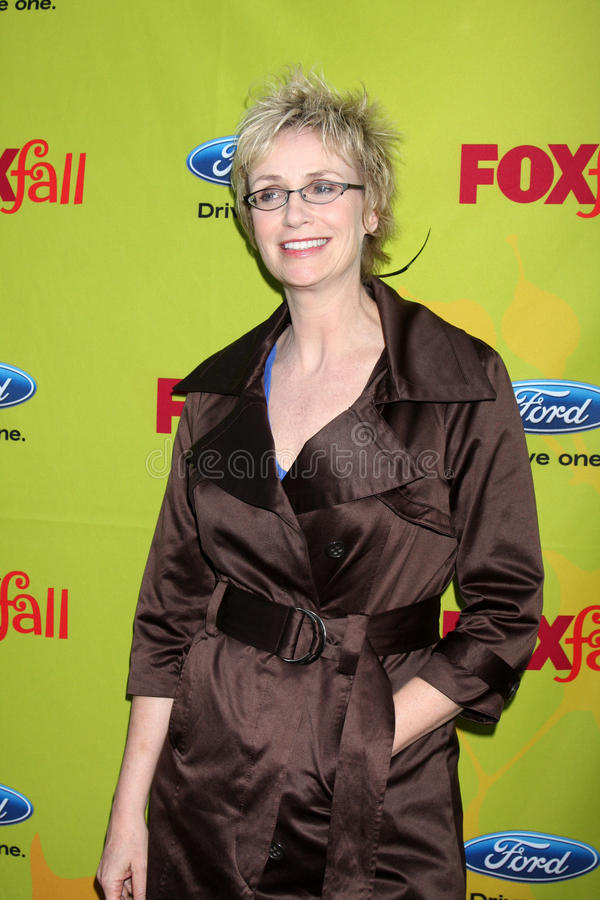 Jane Lynch. Arriving at the FOX-Fall Eco-Casino Party at BOA Steakhouse in West Los Angeles, CA on September 14, 2009 royalty free stock photos