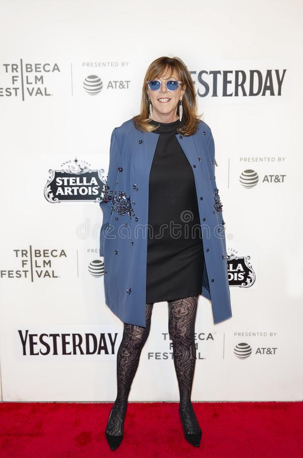 Jane Rosenthal at the World Premiere of `Yesterday at the 19th Tribeca Film Festival. Jane Rosenthal arrives at the World Premiere of `Yesterday,`  Closing royalty free stock photo