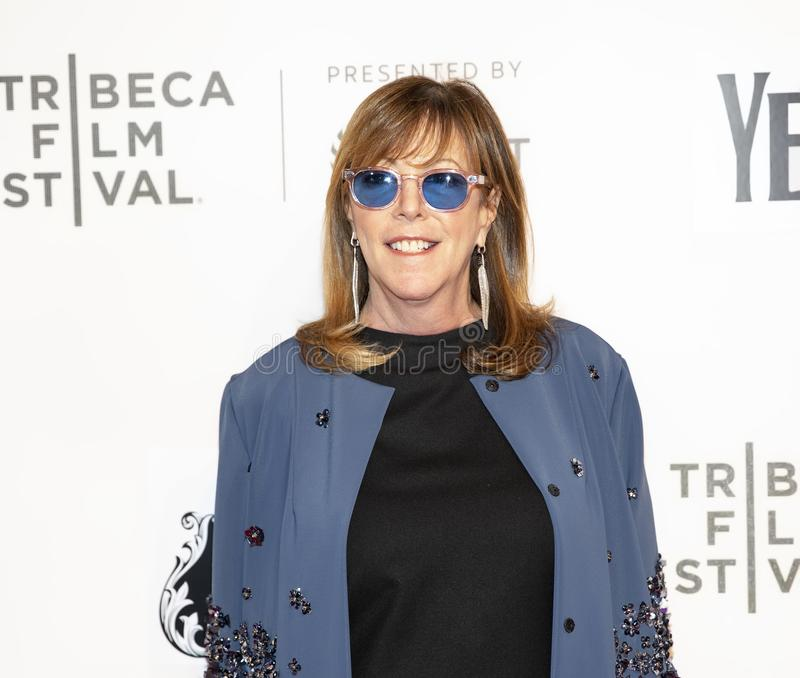 Jane Rosenthal at the World Premiere of `Yesterday at the 19th Tribeca Film Festival. Jane Rosenthal arrives at the World Premiere of `Yesterday,`  Closing stock photos