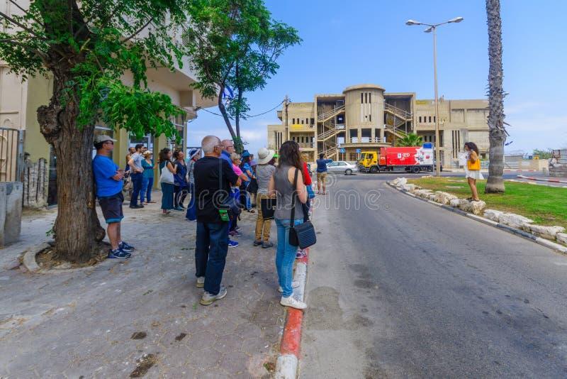 Jane Walk-reis in de buurt van Knuppelgalim, Haifa royalty-vrije stock afbeelding