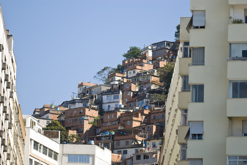 janeiro Ρίο de favela στοκ εικόνες
