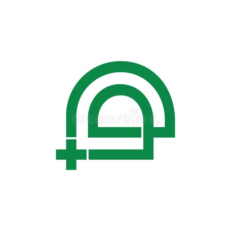 Janela abstrata mais o vetor médico do logotipo ilustração royalty free