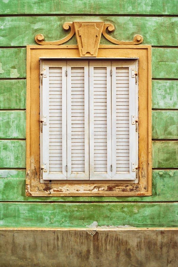 Janela barroco velha foto de stock