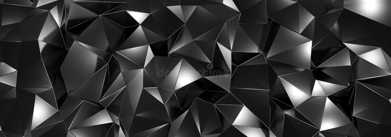 Janela branca na ILUSTRAÇÃO azul de wall3d, do fundo de cristal do preto do sumário, textura triangular, largamente panorâmico pa ilustração stock