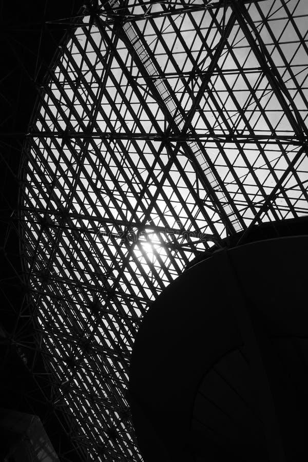 Janela da claraboia - fundo arquitetónico abstrato imagem de stock