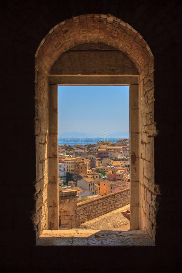 Janela de Corfu foto de stock royalty free