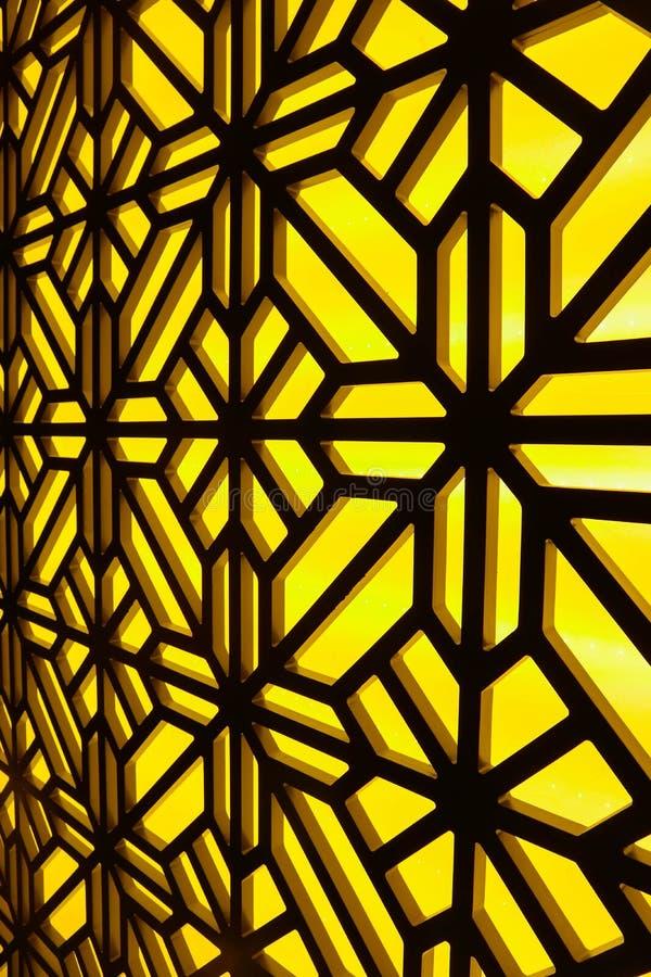 Janela de vidro colorido abstrata no centro dos termas Teste padrão floral fotografia de stock royalty free