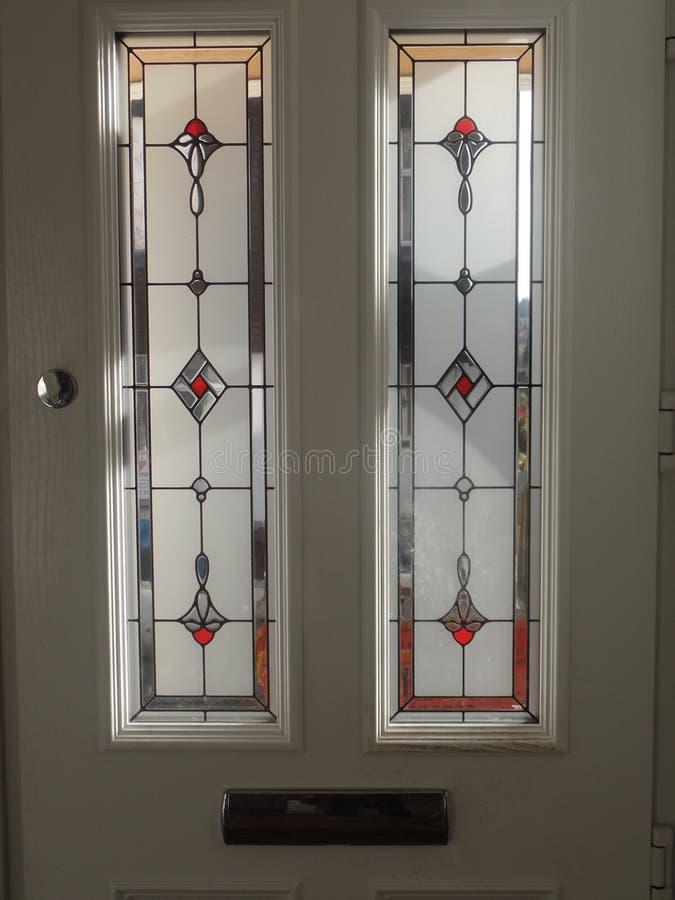 Janela de vitral, porta da rua fotos de stock royalty free