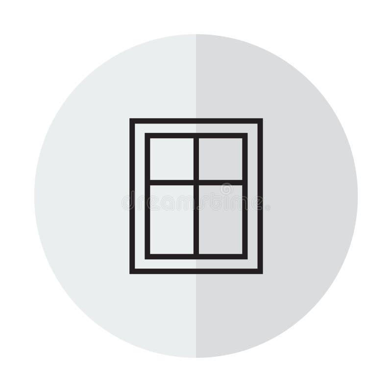 Janela do ícone do vetor ilustração do vetor