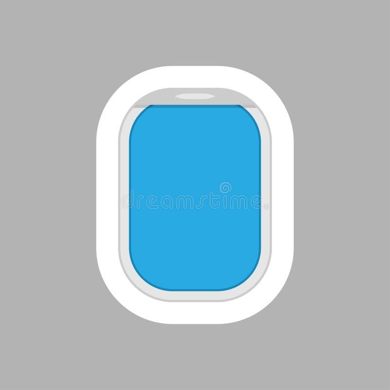 Janela do avião para seu projeto ilustração do vetor