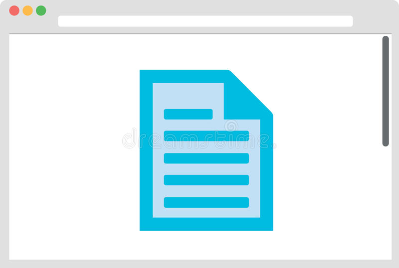 Janela do browser com ícone de original ilustração stock