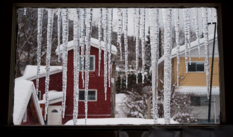 Janela do inverno imagem de stock
