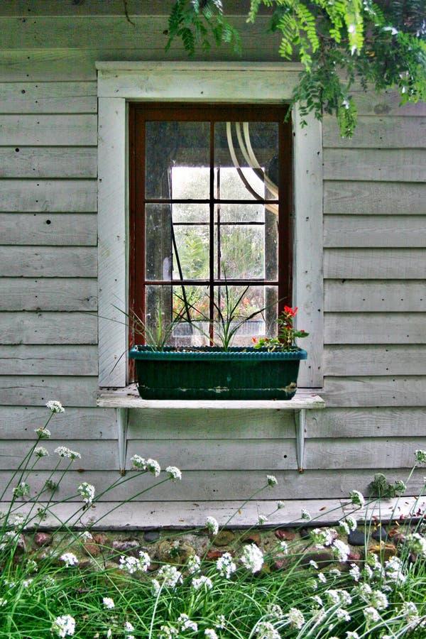 A janela do jardim foto de stock