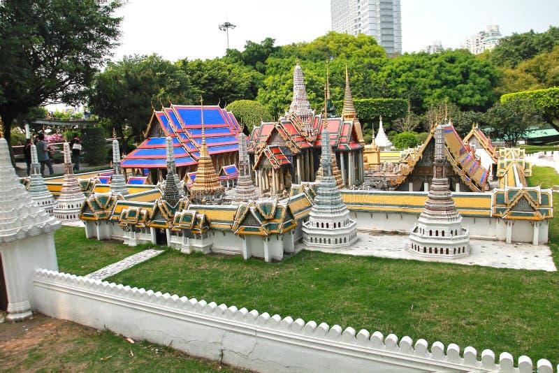 A janela do mundo é uma cidade diminuta situada em Shenzhen, China foto de stock royalty free
