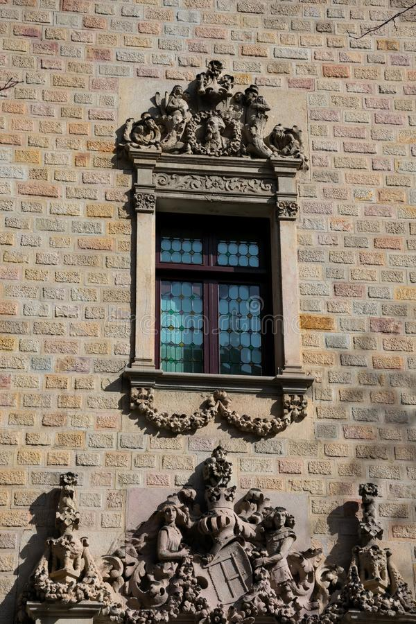 Janela Edificio de la Diputacion de Barcelona do conselho de Barcelona imagens de stock