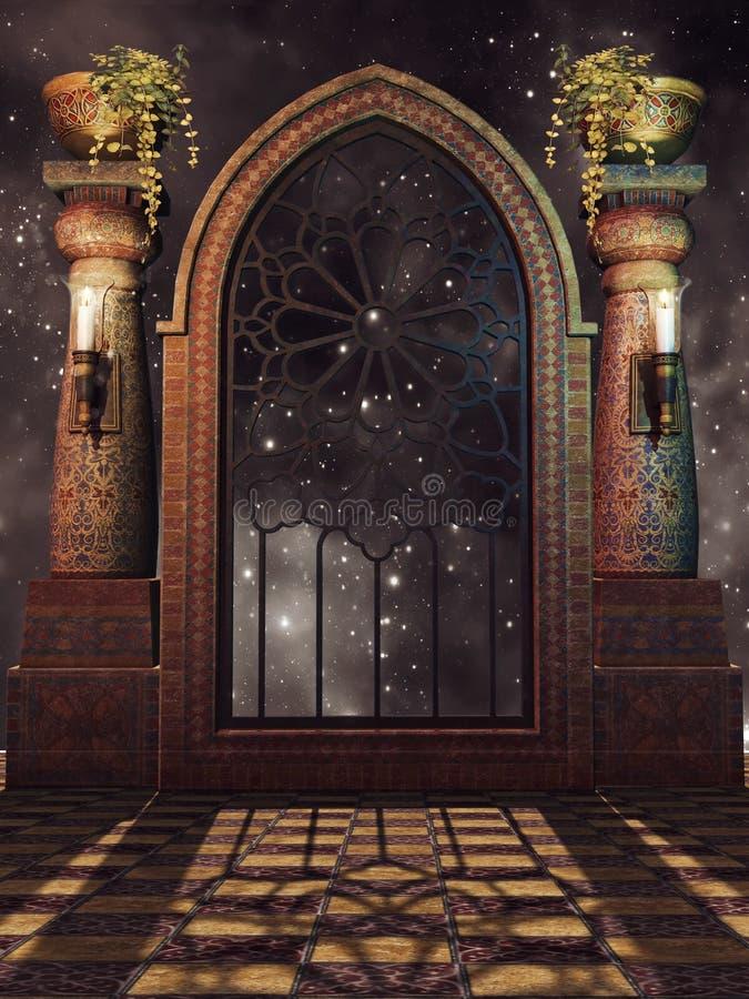 Janela extravagante do palácio ilustração do vetor