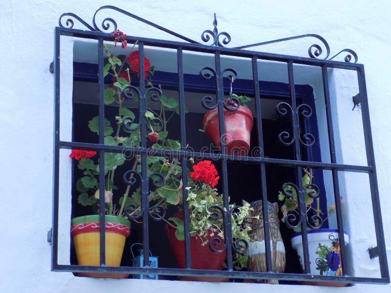 Janela Frigiliana-típica imagem de stock royalty free
