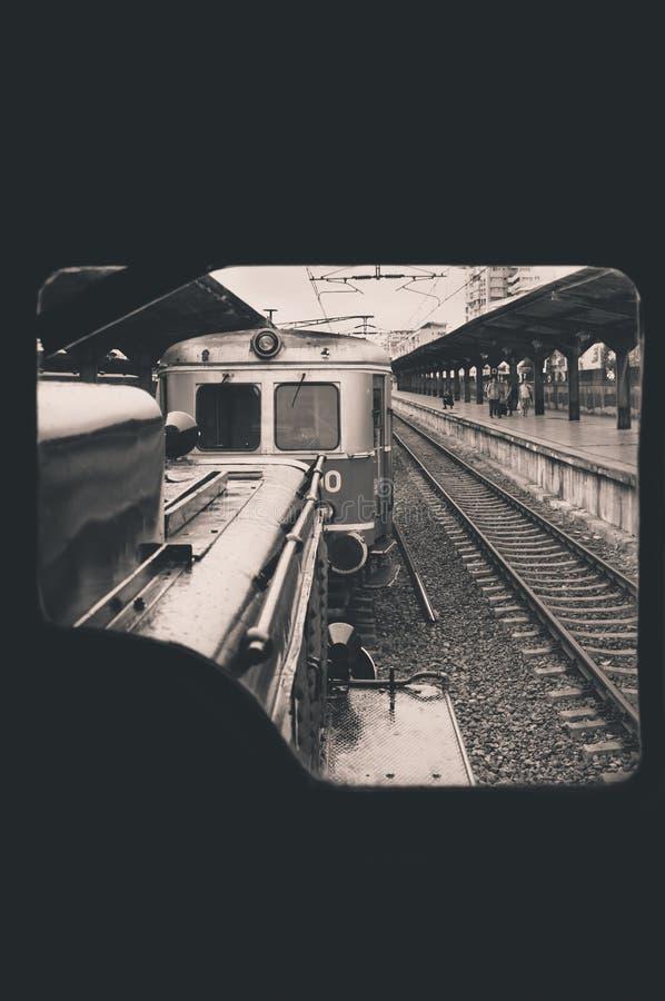 Janela locomotiva imagens de stock