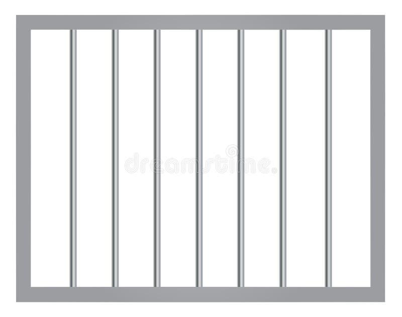 Janela na prisão com barras ilustração do vetor