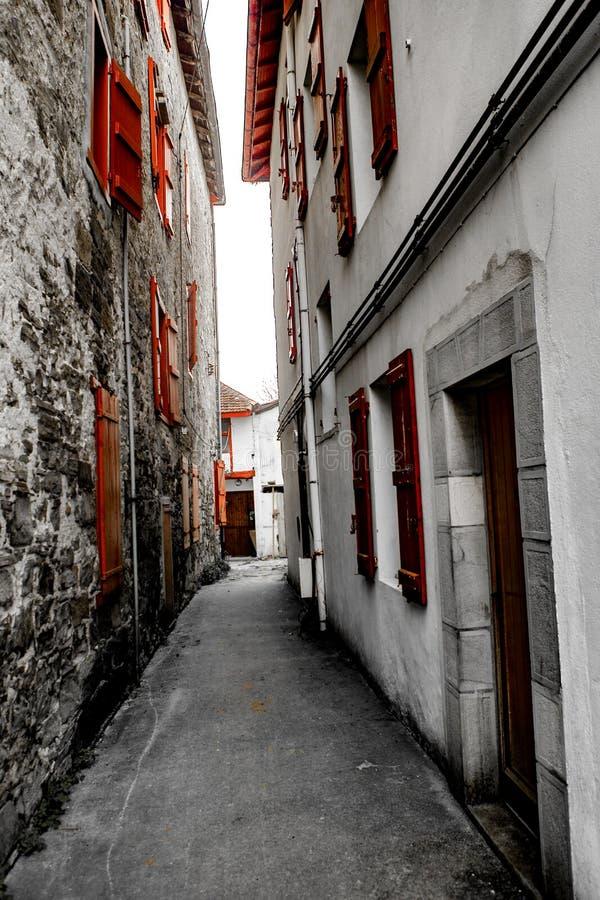 Janela vermelha - Espelette fotografia de stock royalty free