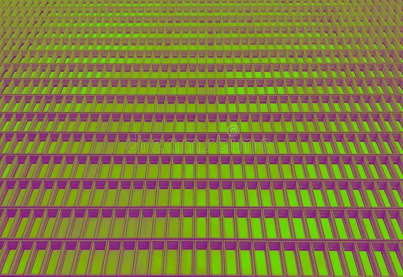 Janelas da infinidade no tom verde e roxo do duo imagens de stock royalty free