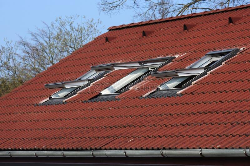 Janelas do telhado imagens de stock royalty free