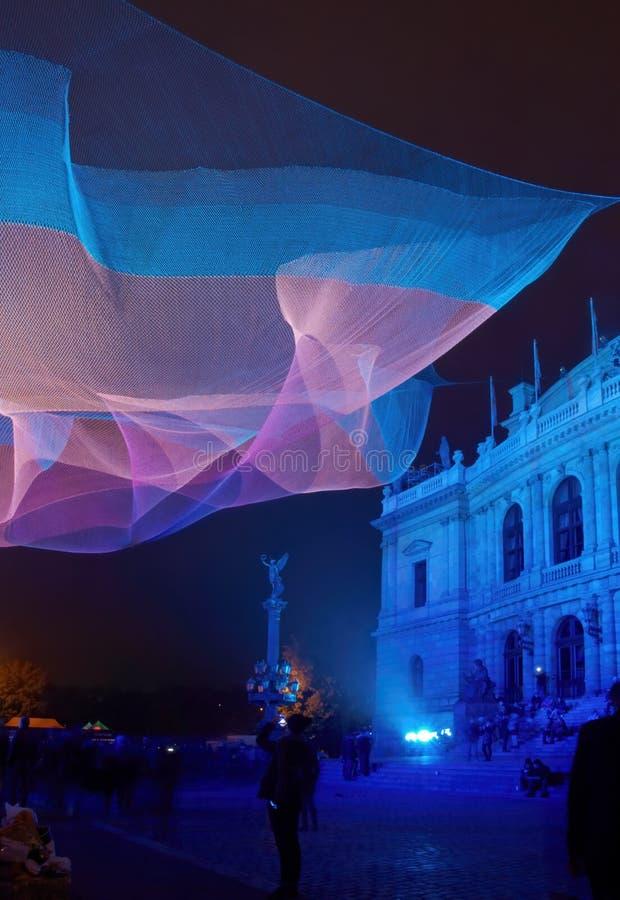 1.26 by Janet Echelman on Signal Festival Prague royalty free stock photos