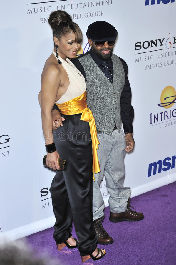 Janet Jackson, Jermaine Dupri photo libre de droits