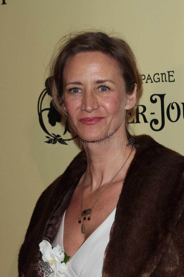 Janet McTeer nas ?as mulheres anuais no partido de cocktail de Pre-Oscar da película, Cecconi, Los Angeles, CA 02-24-12 fotos de stock royalty free