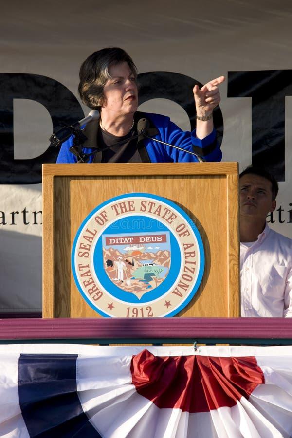 Janet Napolitano stock foto's