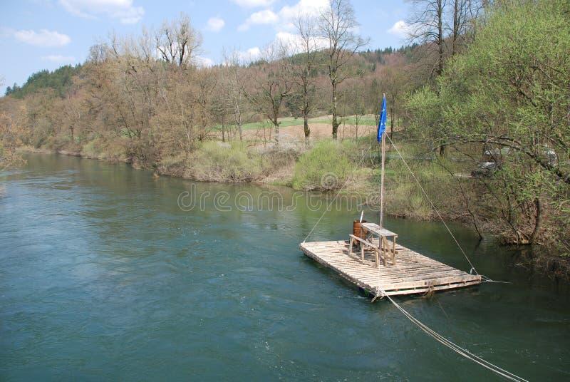 Jangada do rio perto de Planina imagem de stock royalty free