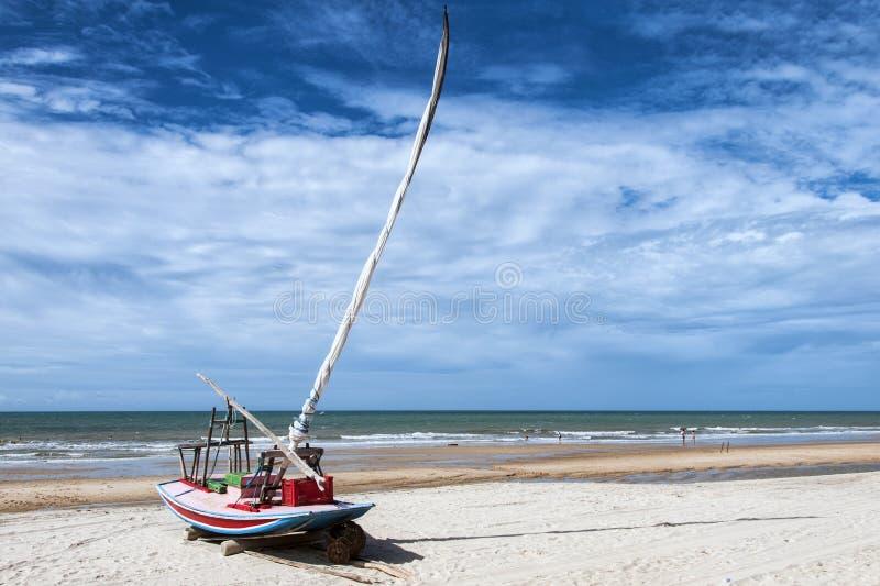 Jangada op het strand royalty-vrije stock fotografie