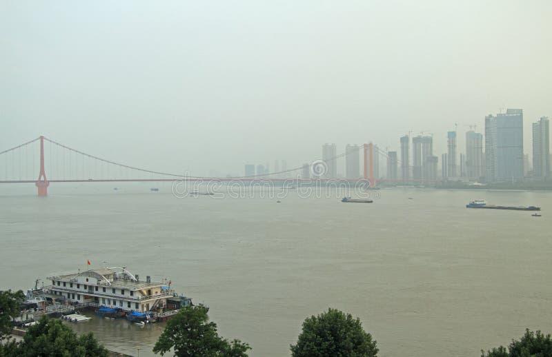 Jangcy i breloczka most w Wuhan obraz stock