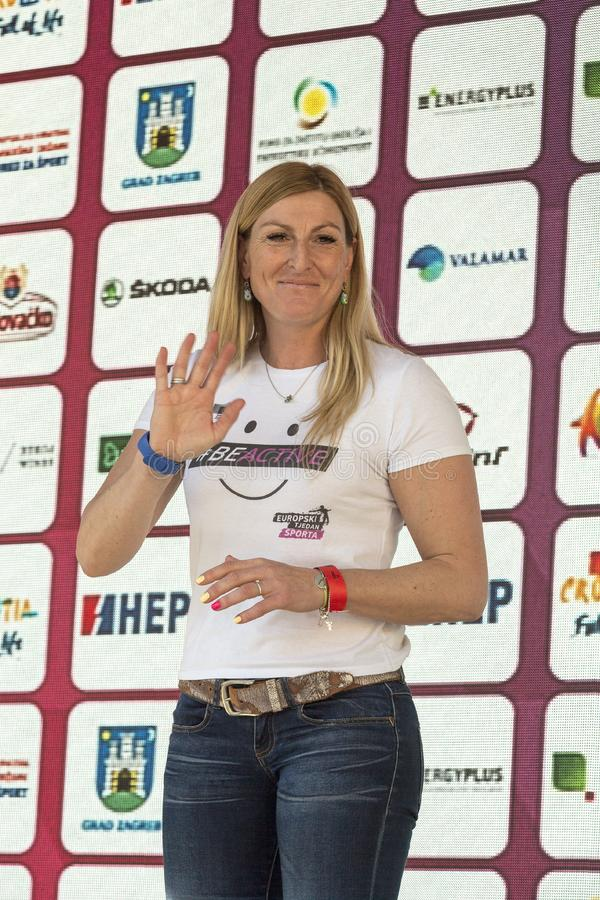 Janica Kostelic, greatest ski racer in the the history royalty free stock photography