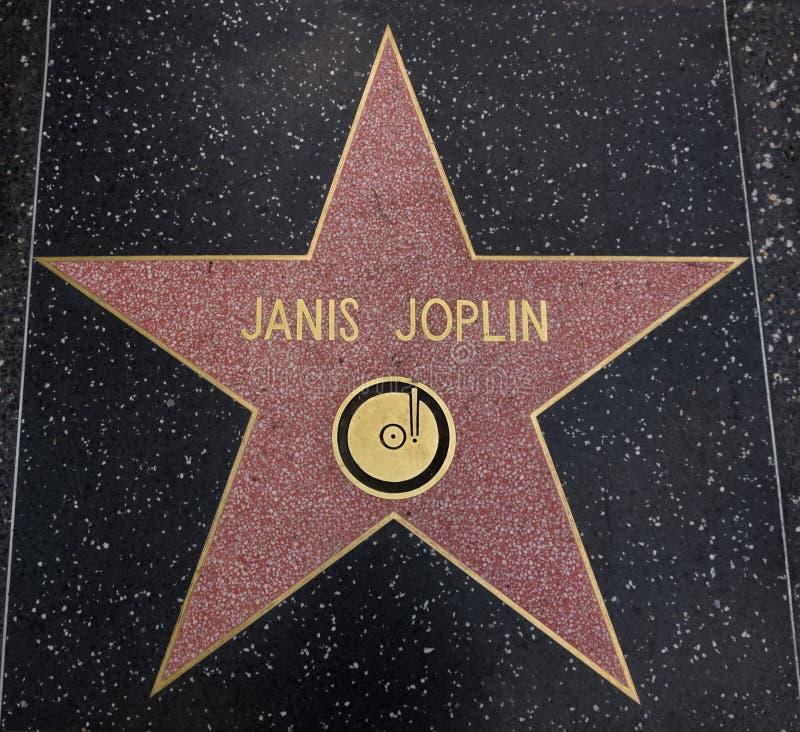 Janis Joplin-ster op de Gang van Bekendheid royalty-vrije stock afbeelding