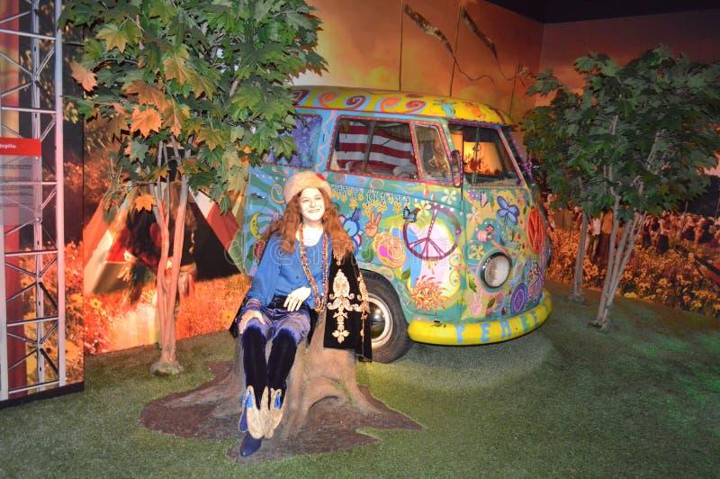 Janis Joplin-wasstandbeeld royalty-vrije stock foto