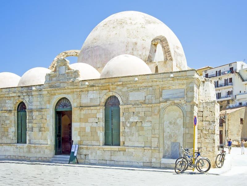 Janissaries moské, Crete arkivbild