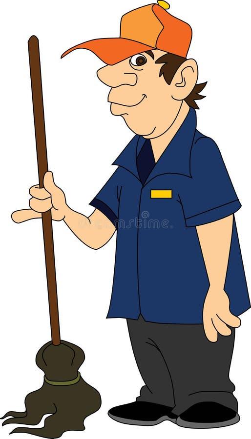 janitor иллюстрация вектора