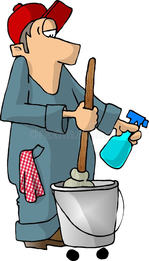 Download Janitor stock illustration. Illustration of worker, vocation - 49243